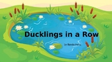 Ducklings in a Row - a FUN number line PowerPoint Read-Alo