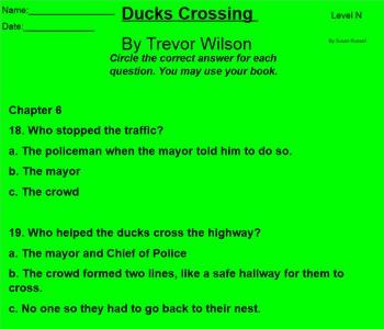 Ducks Crossing by Trevor Wilson Level N