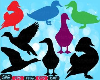Ducks Cutting clip art baby shower bath tup Cute Animal rubber Mascot birds 383s
