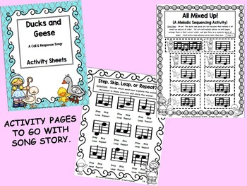 Ducks & Geese: Call/Response Song w/ Activity Pages: (PDF BUNDLE Ed.)