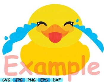 Ducks Kawaii emoji Cutting clip art baby shower bath tup Cute Animal rubber 103s