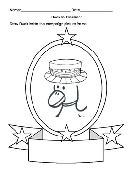Duck's Presidential Activity Worksheets Eng and Spanish Cs