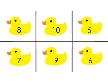 Ducks in a Row 123 Numerical order sort