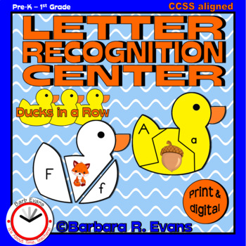 LETTER RECOGNITION CENTER: Ducks in a Row