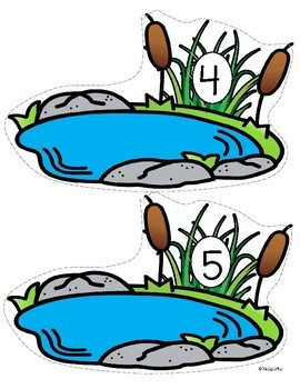 Ducks in the Pond Counting Center and Printables 0-10 Preschool Kindergarten
