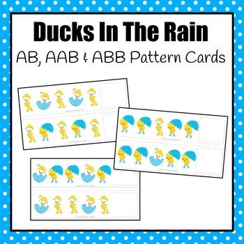 Patterns: Ducks in the Rain Pattern Cards