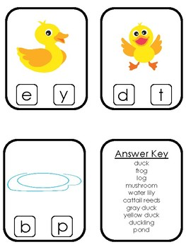 Ducks themed Beginning Sounds Clip It Game.Printable Preschool Game