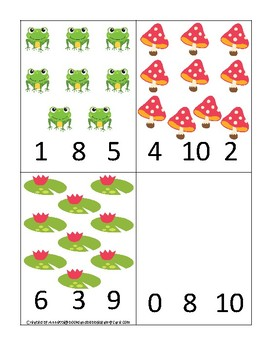 Ducks themed Count and Clip Game.  Printable Preschool Game