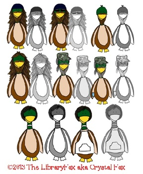 Ducks with Beards for personal or commerical use