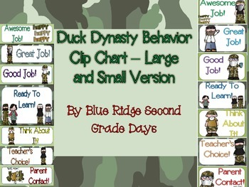 Ducky Dynasty Behavior Clip Chart - 2 Different Versions (Large and Small)
