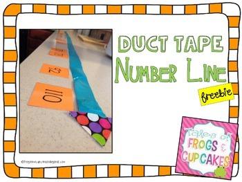 Duct Tape Number Line *FREEBIE*