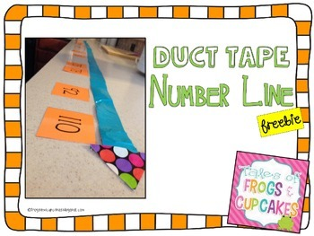Duct Tape Number Line *FREEBIE*