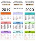 Due Date Calendar Bookmark