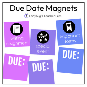 Due Date Magnets