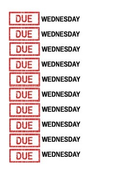 Due Date Stickers
