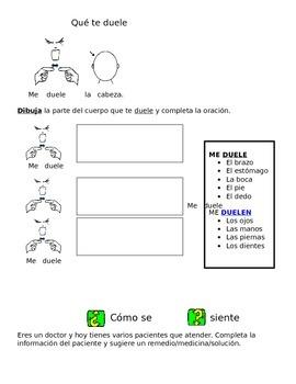 Duele/ Hurts  Spanish