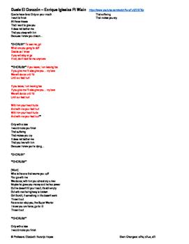 Duele el corazón - Enrique Iglesias - Stem Changers e - ie, o - ue, e - i