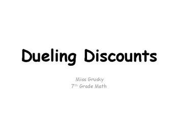 Dueling Discounts