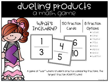 Dueling Fractions (A Comparing Fractions Math Game)