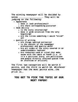 Dueling Newspapers--Journalism