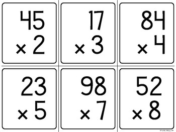 Dueling Products (A Multi-Digit Multiplication Math Game)