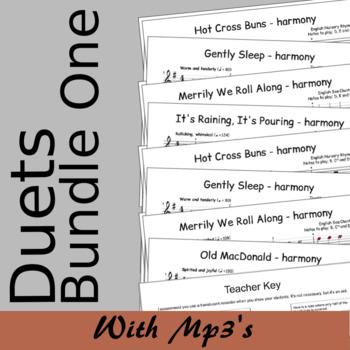 Recorder Duet Harmonies - Duets Bundle One - Save 15%