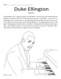 Duke Ellington Biography, Coloring Page, and Word Search