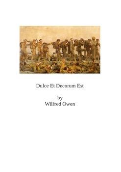 Dulce Et Decorum Est - Student Activity Bundle