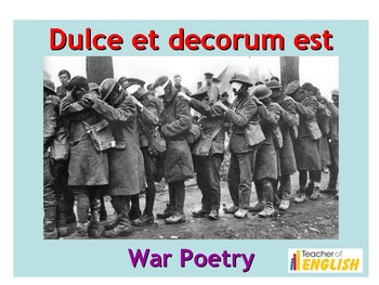 Dulce Et Decorum Est teaching resources