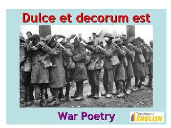 Dulce Et Decorum Est teaching resources