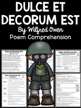 Dulce et Decorum Est Poem Reading Guide, Theme Analysis, C