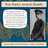 Dulce et Decorum Est War Poetry Bundle: Poster + Powerpoint + Worksheet