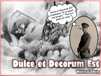 Dulce Et Decorum Est Worksheets & Teaching Resources | TpT
