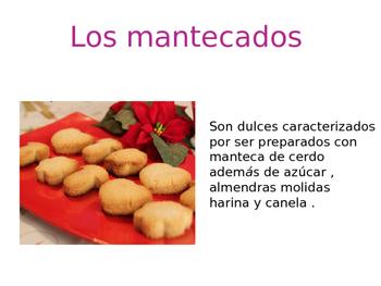 Dulces tradicionales Navidad