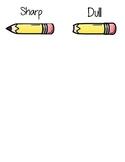 Dull/Sharp Pencil Bin Labels