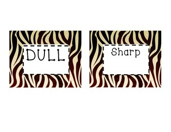 Dull or Sharp Pencil Labels