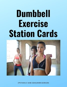 Dumbbell Exercise Station Cards
