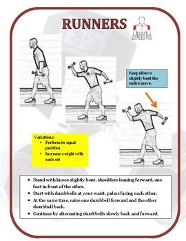 Dumbbell Exercise Task Cards