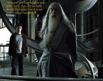 "Dumbledore ""In your head"" Poster"