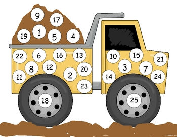 Dump Truck Number Mat to 25