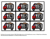 Dump Truck Number Matching 1-20 File Folder Activity