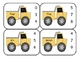 Dump Truck Number Word Clip Cards