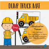 Dump Truck Play Mat FREE PRINTABLE