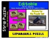 Dump Truck Trash - Expandable & Editable Strip Puzzle with