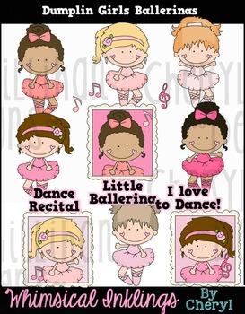 Dumplin Girls Ballerina Clipart