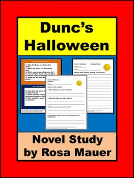 Dunc's Halloween by Gary Paulsen Book Unit