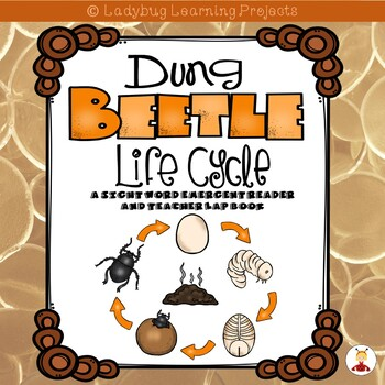 Dung Beetle Life Cycle  (A Sight Word Emergent Reader and Teacher Lap Book)