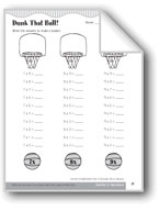 Dunk That Ball! (Multiplication Facts 7s through 10s)
