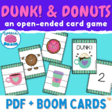Dunk! and Donuts (open-ended card game for mixed groups)
