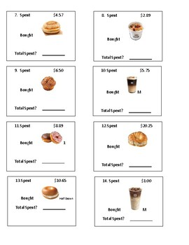 Dunkin Donuts Menu Math